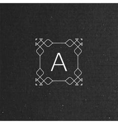 Floral monogram vector