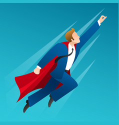 flying up businessman superhero vector image