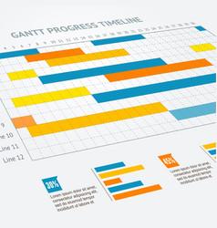 gantt progress line vector image