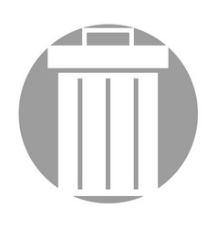 garbage pot isolated icon vector image