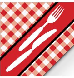 Gingham menu card vector