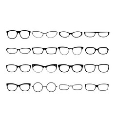 glasses frames vector image