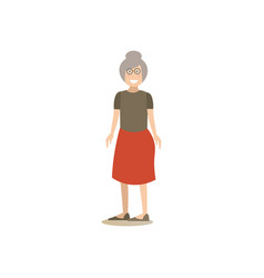 Grandmother concept in flat vector