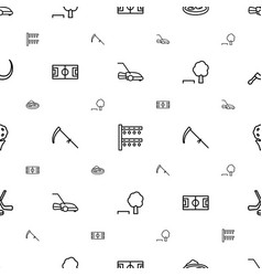 grass icons pattern seamless white background vector image
