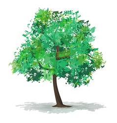 Green abstract tree vector