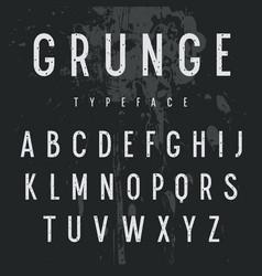 grunge alphabet 006 vector image