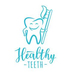 healthy teeth concept design concept vector image