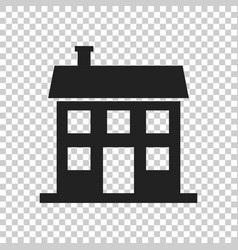 house icon in flat style on isolated background vector image