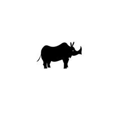 icon of a rhino vector image
