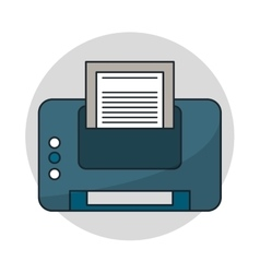 Isolated printer with paper design vector image