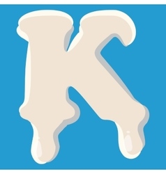 K letter isolated on baby blue background vector