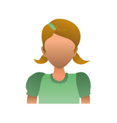kid child girl avatar faceless vector image
