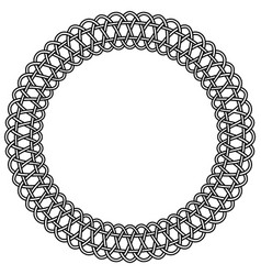 lace rosette macrame round frame vector image