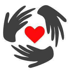 Lovely craft hands flat icon symbol vector