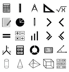 Math icon set vector