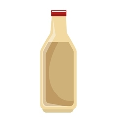 milk bottle isolated icon vector image