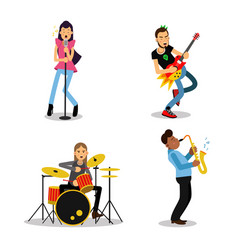 Musician characters with different musical vector