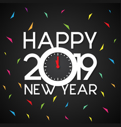 New year 2019 celebration vector