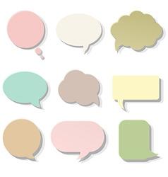 Pastel Speech Bubble vector image