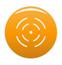 Point radar icon orange vector