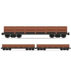 Railway carriage 02 vector