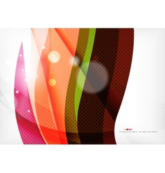 Rainbow orange red brown line design vector image