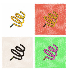 Ribbon gymnastic gymnastics ribbon rhythmic vector