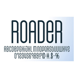 road alphabet set a collection letters vector image