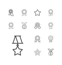 Rosette icons vector
