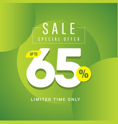 Sale special offer up to 65 limited time only vector