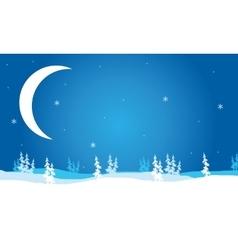 Scenery Christmas Crescent moon vector