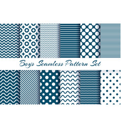 Scrapbook boy pattern set vector