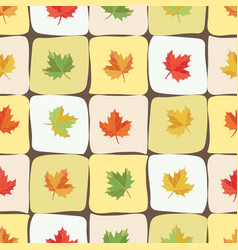 seamless pattern background with maple leaves vector image