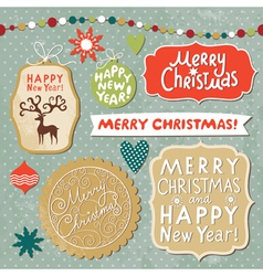 Set christmas and new year elements vector