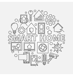 Smart home outline vector image