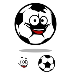 Soccer ball character with happy face vector image
