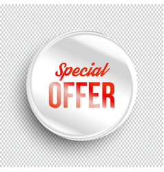 Special offer circle banner vector