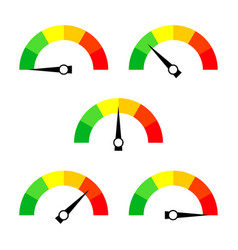 Speedometer icon or sign with arrow collection of vector