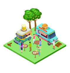 summer street cafe bbq party picnic in park vector image
