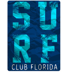 surf club tee clothing poster design vector image