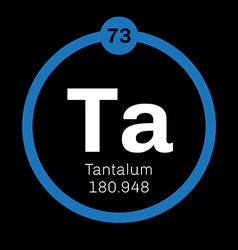 Tantalum chemical element vector image