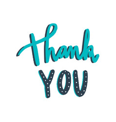 Thank you typography in green vector