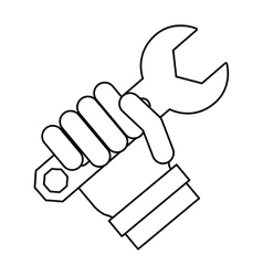 Tool in hand technical service vector