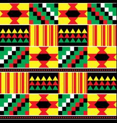 Tribal kente mud cloth seamless pattern vector