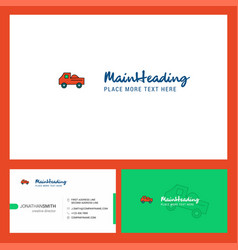 truck logo design with tagline front and back vector image