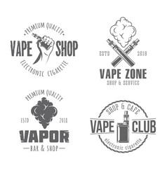 Vape badges vector