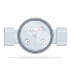 water meter vector image