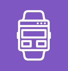 Web page on watch vector