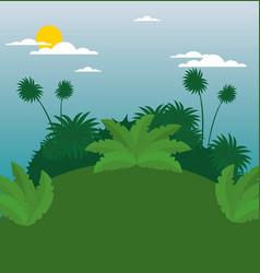 wildlife background design vector image