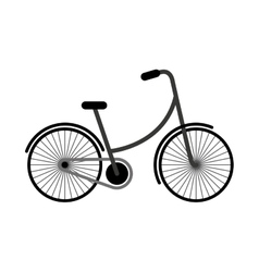 bicycle drawing isolated icon vector image